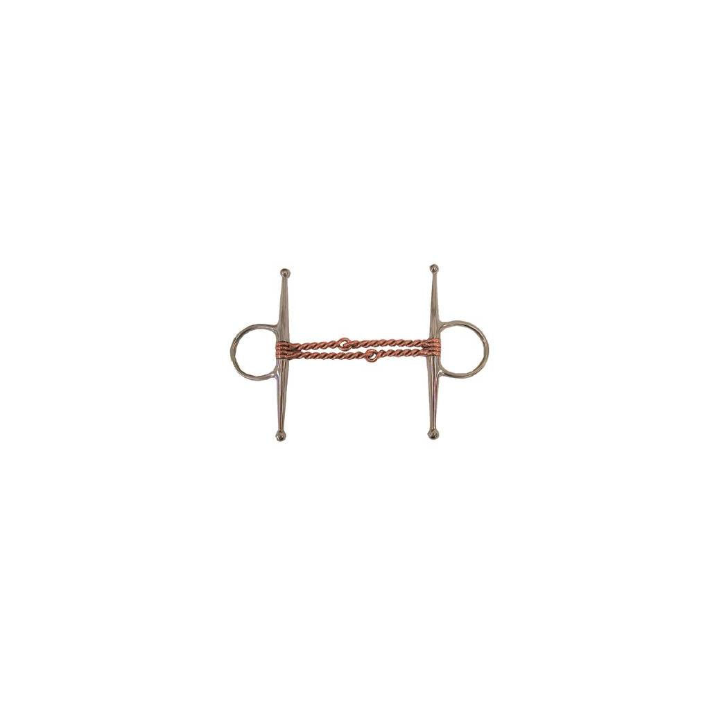 Coronet Copper Mouth Double Twisted Wire Full Cheek Bit