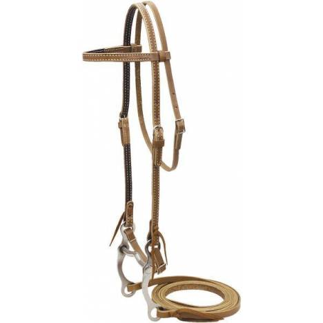 Cowboy Pro Browband Bridle With Curb Bit