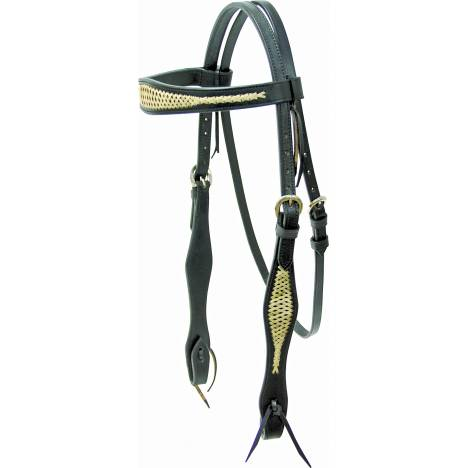 Cowboy Pro Bridle with Criss-Cross with Reins