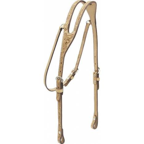 Billy Cook Saddlery Ear Headstall - Floral Tooled