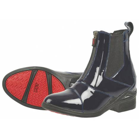 Dublin Ladies Zip Patent Leather Paddock Boots