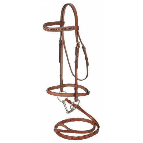 Raised Snaffle English Bridle With Stone Crystals