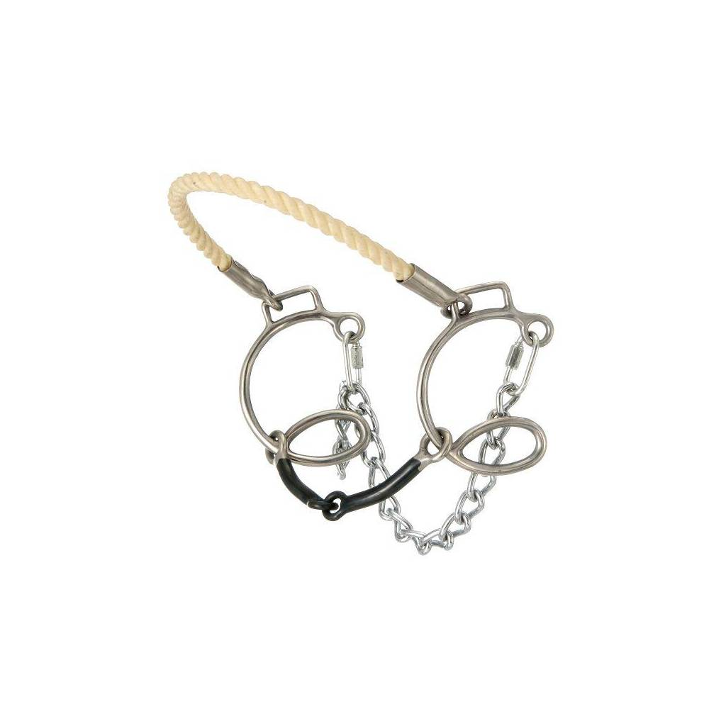 """Kelly Silver Star 6"""" Cheek Sweet Iron Snaffle with Rope Nose"""