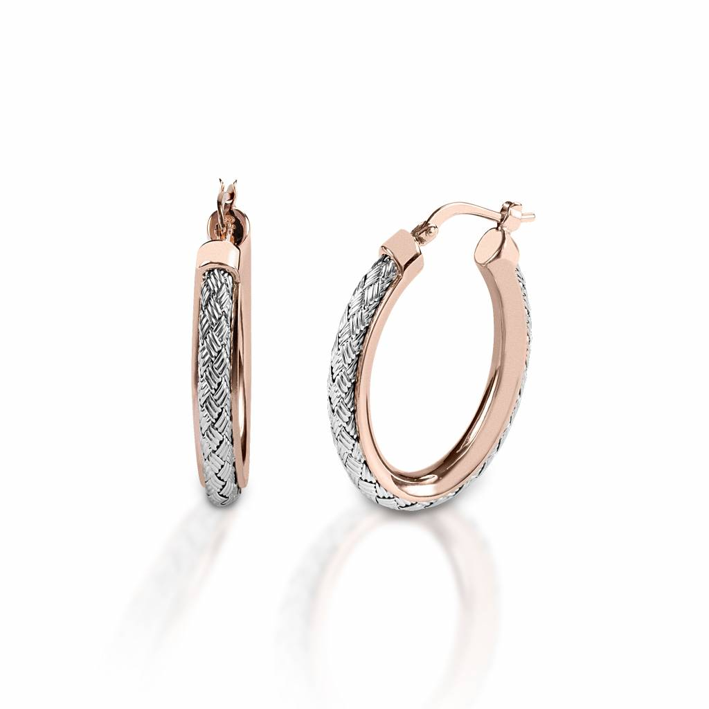 Kelly Herd Rope in Rose Gold Channel - Sterling Silver