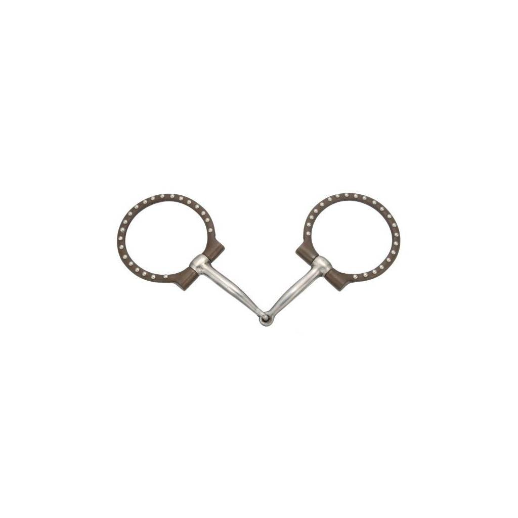 Kelly Silver Star Off-Set Dee with Dots Snaffle