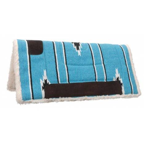 Tough-1 Square Saddle Pad/Fleece Bottom
