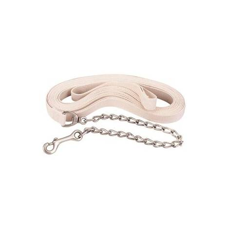 Weaver Flat Cotton Lunge Line with Chain and Snap