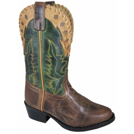 Smoky Mountain Childrens Reno Boots - Brown/Green