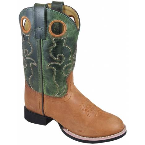 Smoky Mountain Youth Rick Boots - Tan/Green