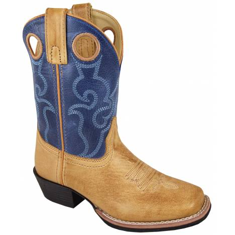 Smoky Mountain Childrens Clint Boots - Tan/Blue