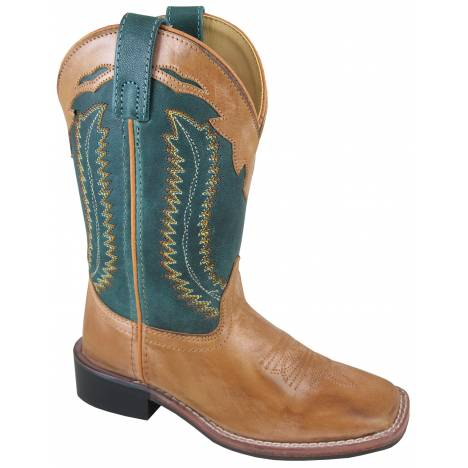 Smoky Mountain Childrens Frank Boots - Tan/Teal