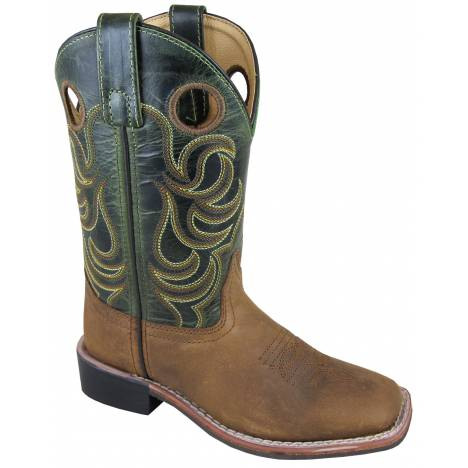 Smoky Mountain Childrens Jesse Boots - Brown/Dark Green