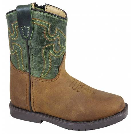 Smoky Mountain Toddler Autry Boots - Brown/Dark Green