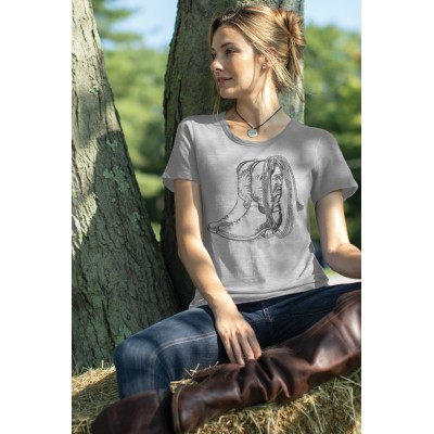 Chestnut Bay Ladies Vintage Tee - Boots N Lasso - Silver Gray - Small