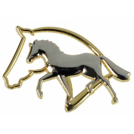 Kelley Gold & Silver Horse Silhouette Brooch