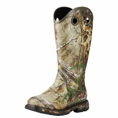 Ariat Mens Conquest Buckaroo Waterproof Insulated Square Toe Rubber Boots