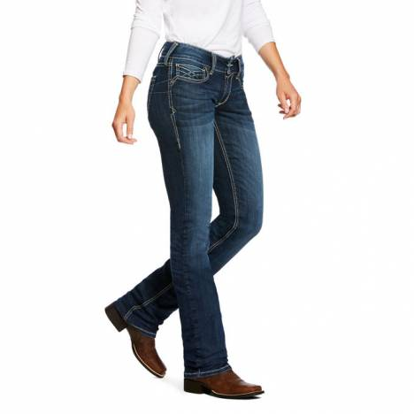 Ariat Ladies REAL Mid Rise Straight Leg Willow 3D Jeans