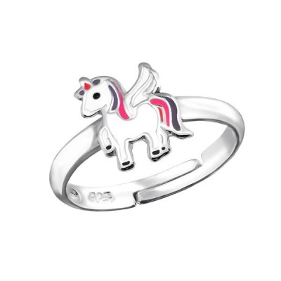 Kids Adjustable Unicorn Ring - Sterling Silver