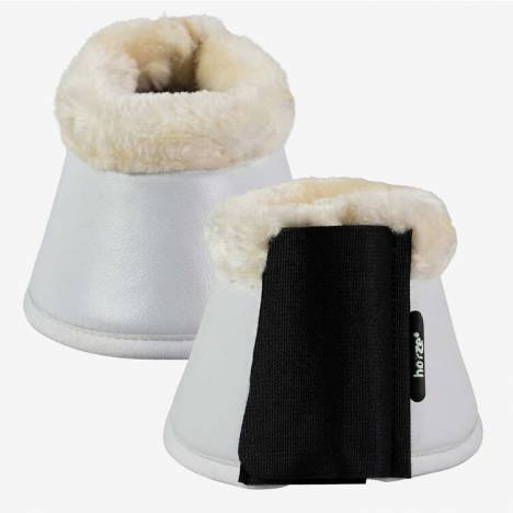 Horze Wilton Bell Boots with Faux Fur Pile Lining