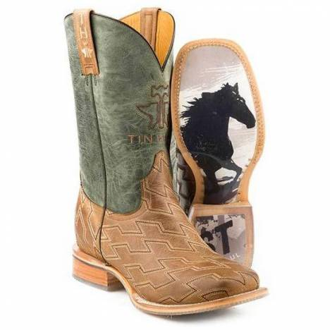 Tin Haul Mens Boots - Horse Power With Ride Fast Sole
