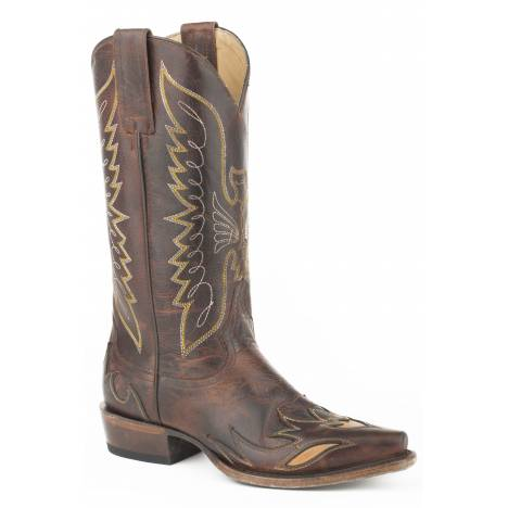 Stetson Ladies Mason Eagle Leather Handcrafted Boots
