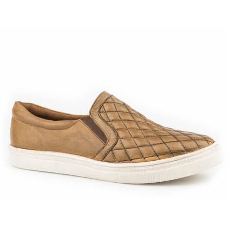Roper Ladies Mane Quilted Slip On Leather Shoes