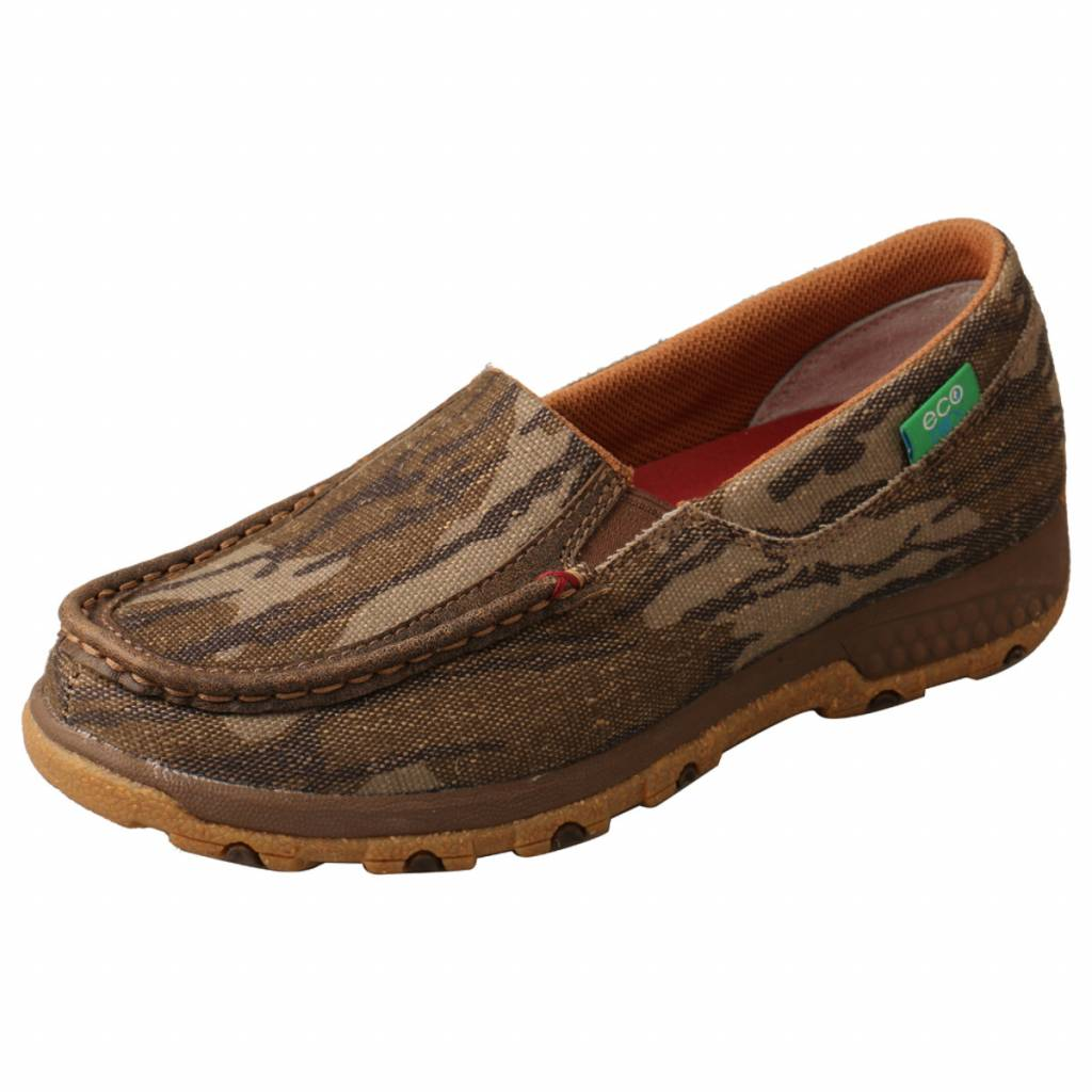 Twisted X Ladies Mossy Oak Slip-On Driving Mocs with CellStretch