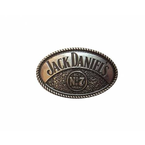 Jack Daniel's Oval Western Buckle with Rope Edge