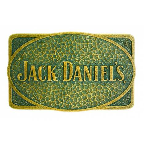 Jack Daniel's Rectangle Hammered Brass Buckle