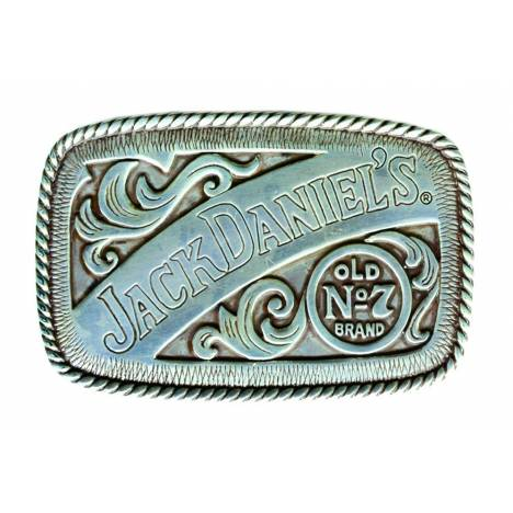 Jack Daniel's Rectangle Old No.7 Western Buckle