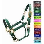 Valhoma Brass Adjustable Chin & Throat Snap Halter