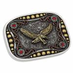 Montana Silversmiths Tri-Color Soaring Eagle Attitude Buckle