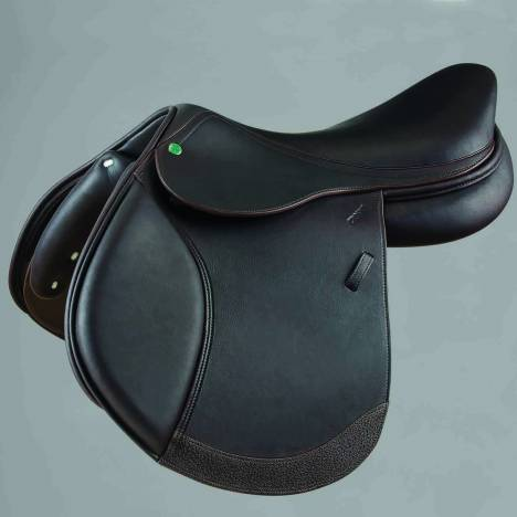 Crosby Hunter Jumper Covered Close Contact Jump Saddle Covered Dark Brown 16.5""