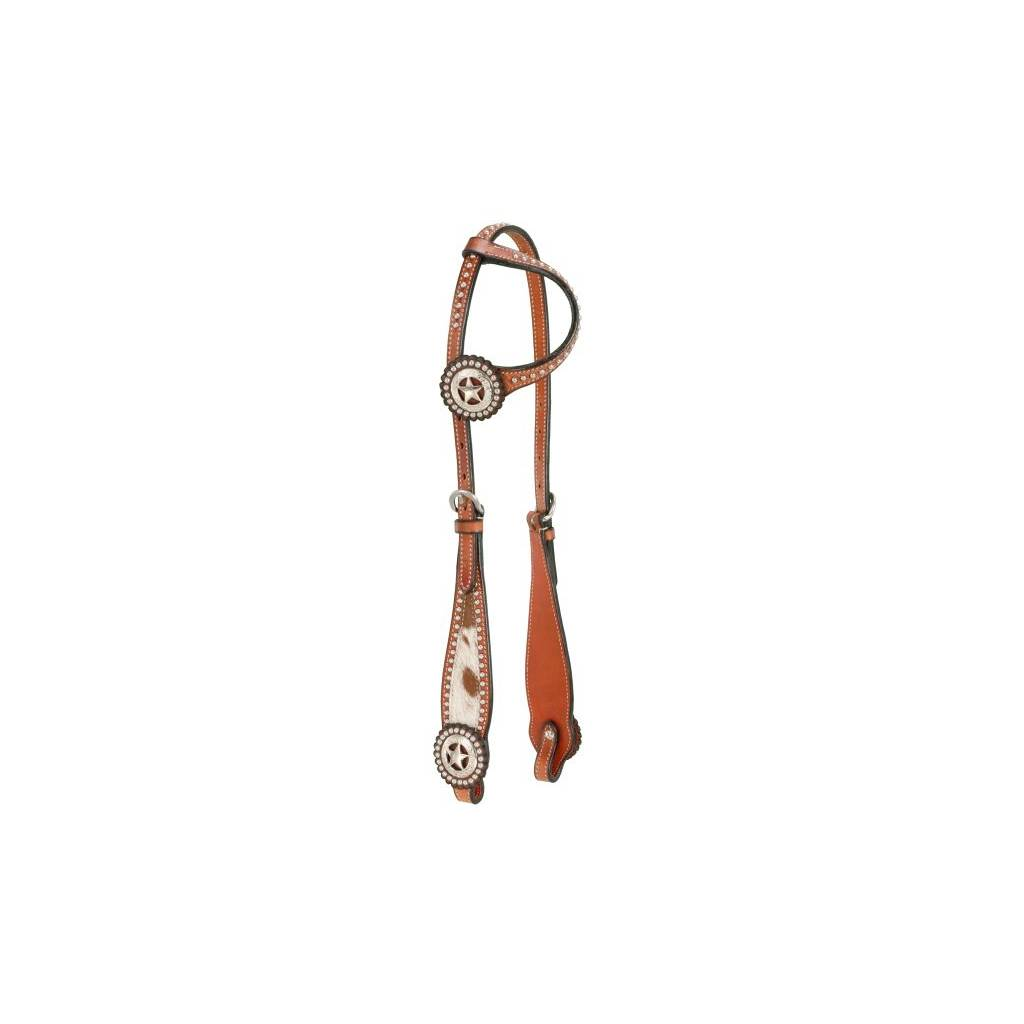 Single Ear Headstall With Hair Overlay