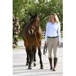 Ovation Ladies Euro Melange Knee Patch X-Grip Breeches