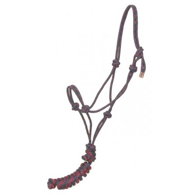 Gatsby Classic Cowboy Halter with Lead - Navy/Burgundy