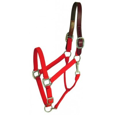 Gatsby Nylon Breakaway Halter with Snap - Red - O/S