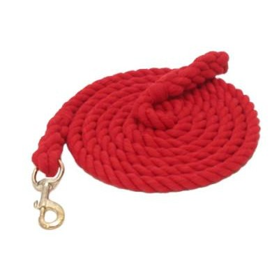 Gatsby Cotton Lead with Bolt Snap - Red - 8'