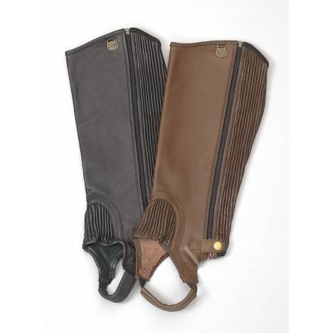 Ovation Ladies Ribbed Top Grain Half Chaps