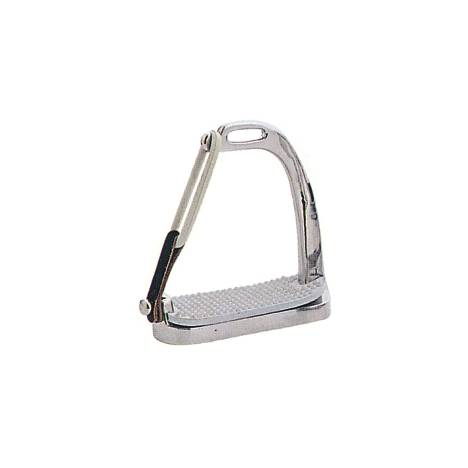 STA-BRITE Stainless Steel Peacock Safety Stirrup with Pad