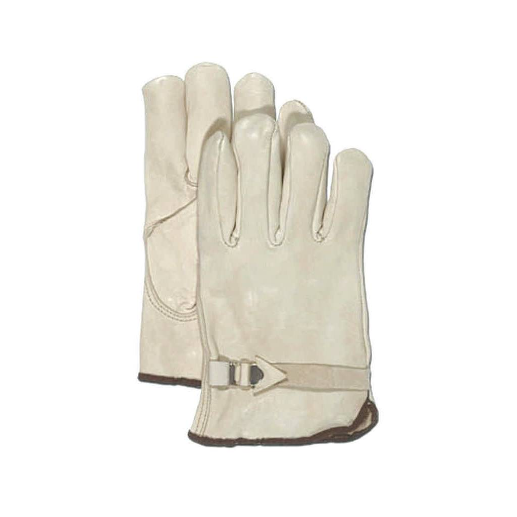 12 Pair of Grain Leather Work gloves with adjustable wrist