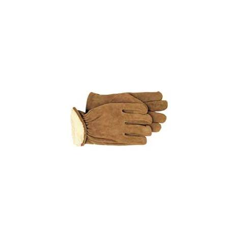 6 Pair - Lined Leather Outdoor Work Gloves