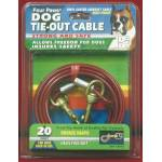 Tie Out Cable Silver 20 Ft For Dogs