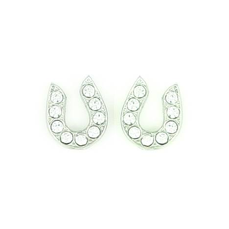 Finishing Touch Rhinestone Horseshoe Earrings