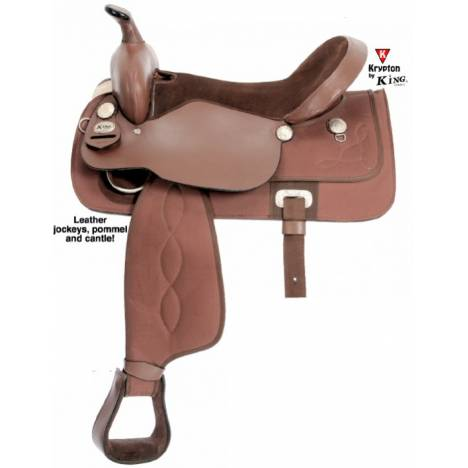 King Series Krypton Synthetic All Around Youth Saddle