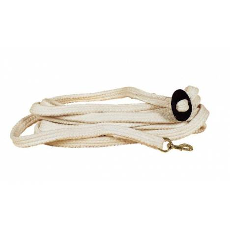 TORY LEATHER Flat Braided Cotton Rope Lunge Line with Brass Snap
