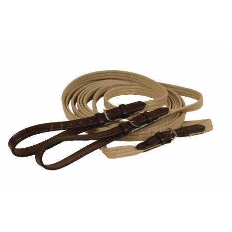 """TORY LEATHER 3/4"""" Cotton Web & Leather Draw Reins"""