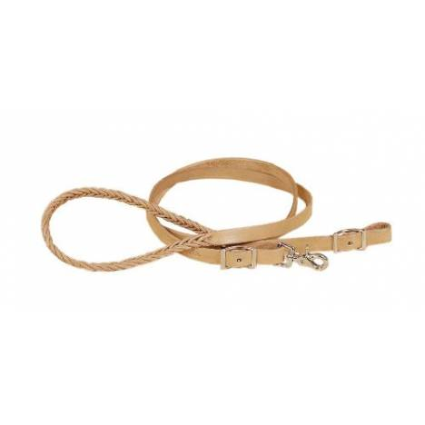 TORY LEATHER Five Plait Braided Hand Hold Roping Reins