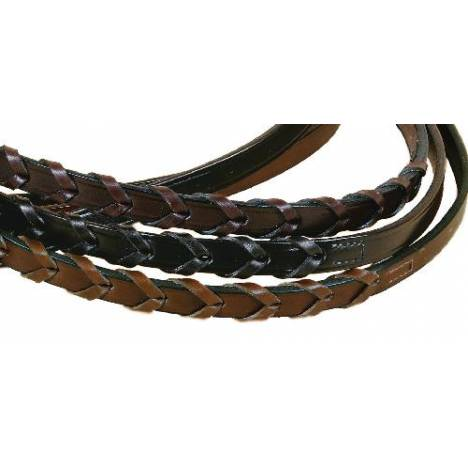 Tory Leather Laced Reins with Stud Hooks