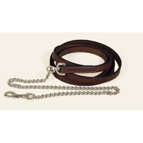 """TORY LEATHER 3/4"""" Single Ply Lead - Brass Plated Chain"""